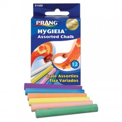 Dustless Chalk, Asst colors, 12 sticks