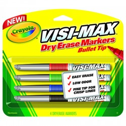 Visi-Max Dry Erase Markers, 4 ct. Fine