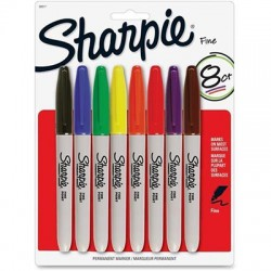 Sharpie Fine Point Markers, 8 colors