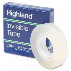 Highland Invisible Tape, 1/2' x 36 yds.