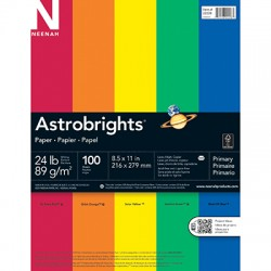 ASTROBRIGHTS® Copy Paper, Primary 100 sheets