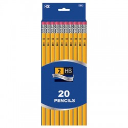 Yellow No. 2 Pencils, 20 ct.
