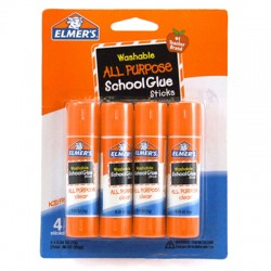 Elmer's Clear Glue Stick, .24 oz., 4 pk.