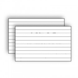 Index Cards White Primary, 100 Ct.