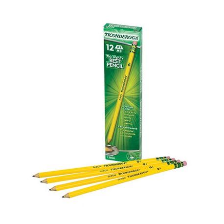 Ticonderoga No. 2 Pencils, Pre-sharpened, 12 Ct.