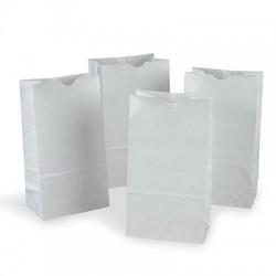 White Kraft Bags, 50 ct