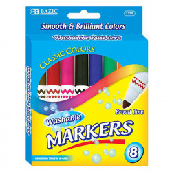 Broad Line Jumbo Washable Markers, 8 ct.