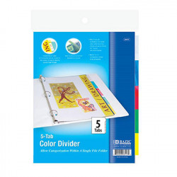 5 Tab Index Poly Dividers