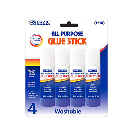 Clear 0.28 oz. Glue Sticks, 4 ct.