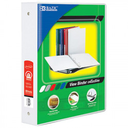"1 1/2"" White View Binder"