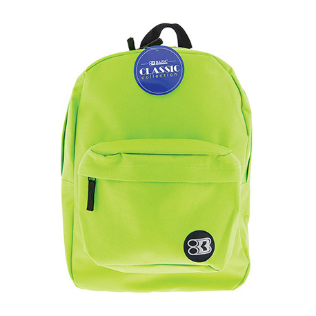 "17"" Lime Backpack"