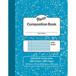 Composition Book, Blue Pages