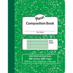 Composition Book, Green Pages