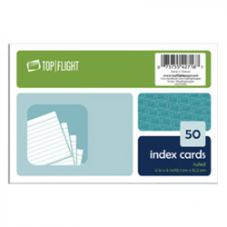 """White Index Cards, Ruled 4"""" x 6"""", 50 Ct"""
