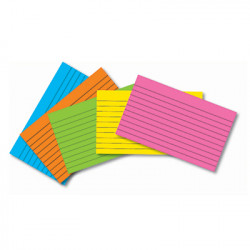 """Colored Index Cards, 3"""" x 5"""" Lined, 75 Ct"""