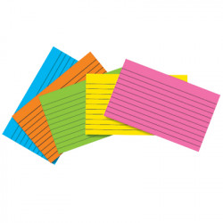 """Colored Index Cards, 4"""" x 6"""" Lined, 75 Ct"""