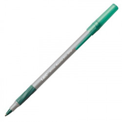 Ultra Round Stic Grip Green Pen, Each