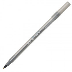 Bic Round Stick Pen Black, Single