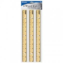 "Wooden Ruler, 12"" 3 ct."