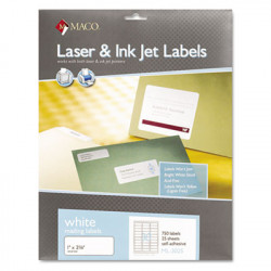 "Address Labels 1"" x 2 5/8"", 750 ct"