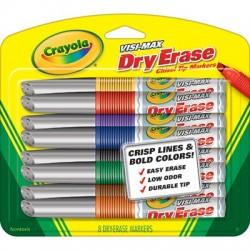 Visi-Max Dry Erase Markers, 8 ct. Broad