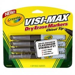Visi-Max Dry Erase Markers, 4 ct.